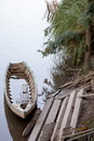 Canoe a full of water Stock Image