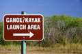 Canoe and Kayak Launch Sign Royalty Free Stock Photo