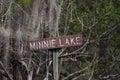 Canoe Kayak trail sign, Minnie Lake, Okefenokee Swamp National Wildlife Refuge