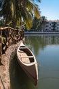 Canoe on lake india resort marinha dourada Royalty Free Stock Photo