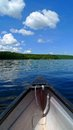 Canoe in lake trip with blue sky Royalty Free Stock Photography
