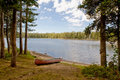 Canoe by Nevada Wrights Lake Stock Photography