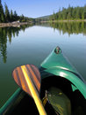 Canoe and Paddle Royalty Free Stock Photography