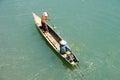 Canoe on river Mekong at Don Khong island Royalty Free Stock Photo