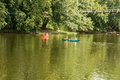 Canoeing on the James River Royalty Free Stock Photo