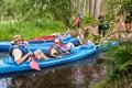 Canoeists Royalty Free Stock Photo