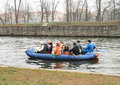 Canoeists on river Royalty Free Stock Photo