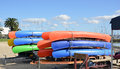 Canoes. Royalty Free Stock Photos