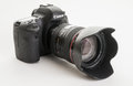 Canon eos d modern digital single lens reflex camera a full frame dslr from the new Royalty Free Stock Photo