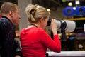 Canon lens testing Royalty Free Stock Photos