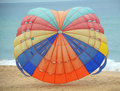 Canopy of parachute for parasailing in phuket thailand Royalty Free Stock Photos