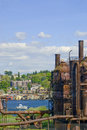 Canotage par le stationnement de Gas Works Photo stock