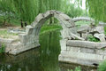 Canqiao ruined bridge in beijing yuanmingyuan its heydays had nearly bridges this was a stone arch over a stream outside the west Royalty Free Stock Photos