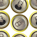 Cans background seamless made with refreshment isolated on white Stock Photography