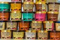 Cans of Blue Bell ice cream Royalty Free Stock Photo