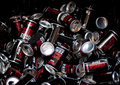 Cans of coca cola zero promotion in one super market lot people were thirsty Royalty Free Stock Photography