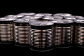 Cans a group of black Royalty Free Stock Image