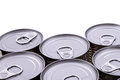 Cans a group of isolated Royalty Free Stock Photography