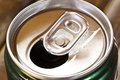 Cans were opened macro a was Stock Photography