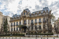 """Cantacuzino palace located on victory avenue nowadays """"george enescu"""" national museum one of the most beautiful buildings in Royalty Free Stock Photo"""