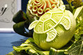 Cantaloup carving in the thailand ultimate chef challenge Royalty Free Stock Photo