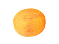 Cantaloup melon cucumis melo cantalupensis isolated on white background Stock Image