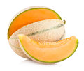 Cantaloupe melo melon on white background Royalty Free Stock Photo