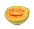 Cantaloupe melon isolated on white background Stock Photos