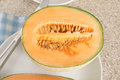 Cantaloupe melon a popular orange fleshed melon Stock Photo