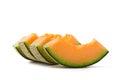Cantaloupe melon slices Royalty Free Stock Photo