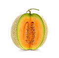 Cantaloupe melon on white background Stock Photo