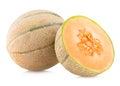 Cantaloupe melon on white background Stock Photography