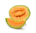 Cantaloupe melon on white background Royalty Free Stock Photo