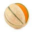 Cantaloupe melon on white background Royalty Free Stock Photos