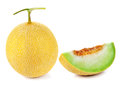 Cantaloupe melon on white background Stock Photos
