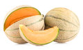 Cantaloupe melons on white background Stock Image