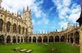 Canterbury Cathedral Cloister, Kent, United Kingdom Royalty Free Stock Photo