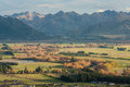 Canterbury plains around hanmer springs in new zealand Royalty Free Stock Images