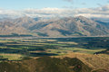 Canterbury plains in new zealand Stock Image