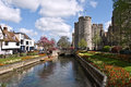 Canterbury westgate towers and gardens uk april the the are the largest surviving medieval gate in england has Stock Images