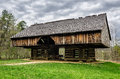Cantilever barn, Tipton Place, Cades Cove Royalty Free Stock Photo
