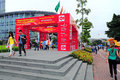 Canton fair pazhou complex buyers registration area of in guangzhou china where takes place Stock Image