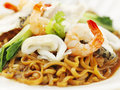 Cantonese asian style noodle friend egg traditional cuisine Royalty Free Stock Photography
