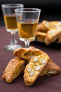 Cantucci e vin santo Royalty Free Stock Photo
