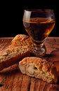 Cantucci and vino santo Royalty Free Stock Photo