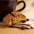Cantuccini and coffee Royalty Free Stock Photo