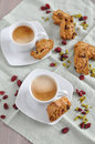 Cantuccini home made almond biscuits Royalty Free Stock Image
