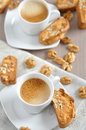 Cantuccini home made almond biscuits Stock Images