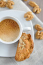 Cantuccini home made almond biscuits Royalty Free Stock Images
