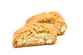 Cantuccini italian biscotti biscuits isolated object on white two Stock Photography